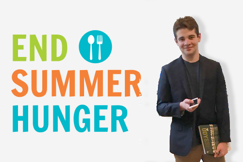 Nate helps end summer hunger