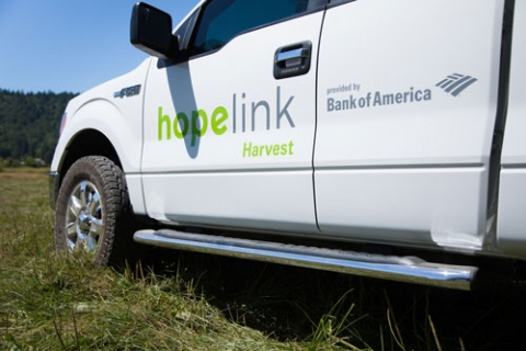 Hopelink Harvest Truck, donated by Bank of America