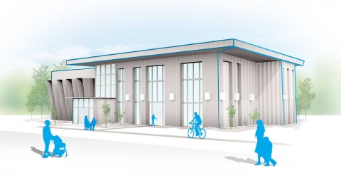Rendering of Hopelink's New Redmond Integrated Service Center