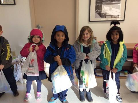 Children at Evergreen Academy Preschool Donate to Those in Need