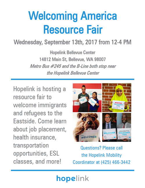 Join us for Welcoming America Resource Fair