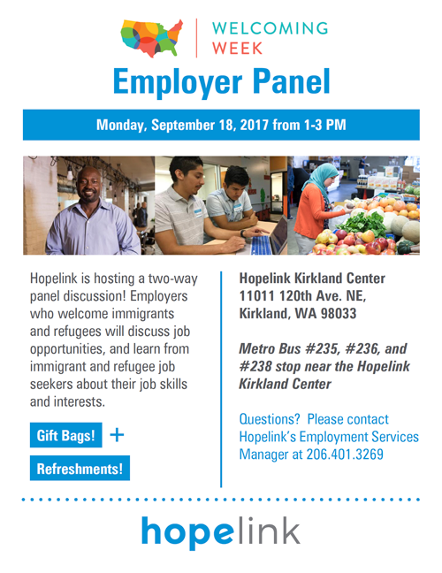 Join Hopelink for an Employer Panel Discussion